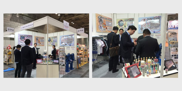 展示会初日の様子 -2016年4月6日~9日「JIAM2016 国際アパレル機器&繊維産業見本市」-